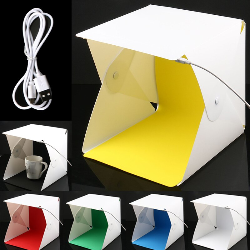 Mini Estudio plegable difuso caja de luz suave con luz LED fondo de fotografía estudio fotográfico S288