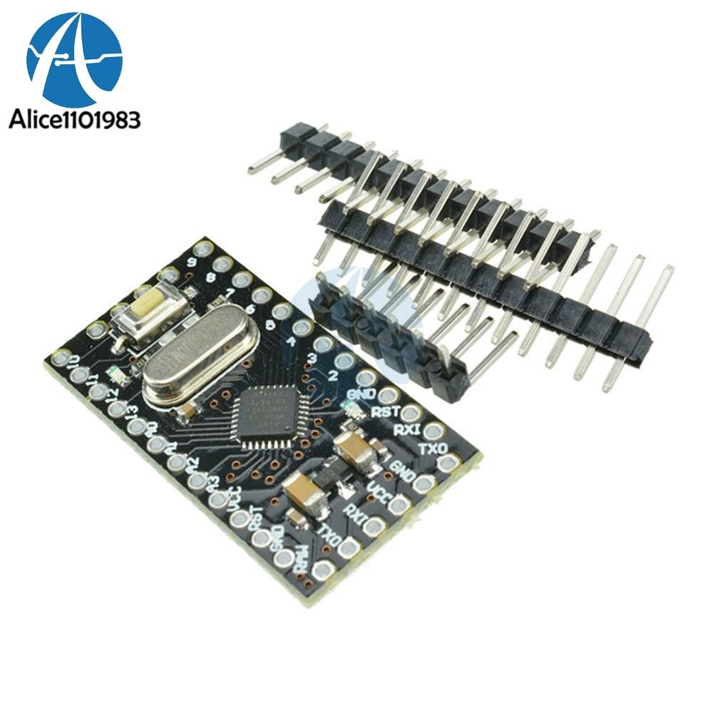 Pro Mini Atmega168 Módulo 5V 12V 16 V M 16MHZ para Arduino Compatible Nano reemplazar Atmega328 serie de nivel TTL transceptor Puerto RX/TX