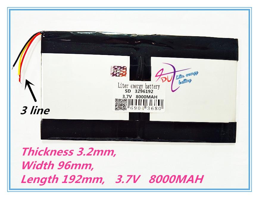 3 провода 3296192 3,7 В 8000 мАч для Teclast X98 air 3G P98 3G планшетный ПК аккумулятор 329696*2 X98 X98 AIR p98 X98 P98HD P98