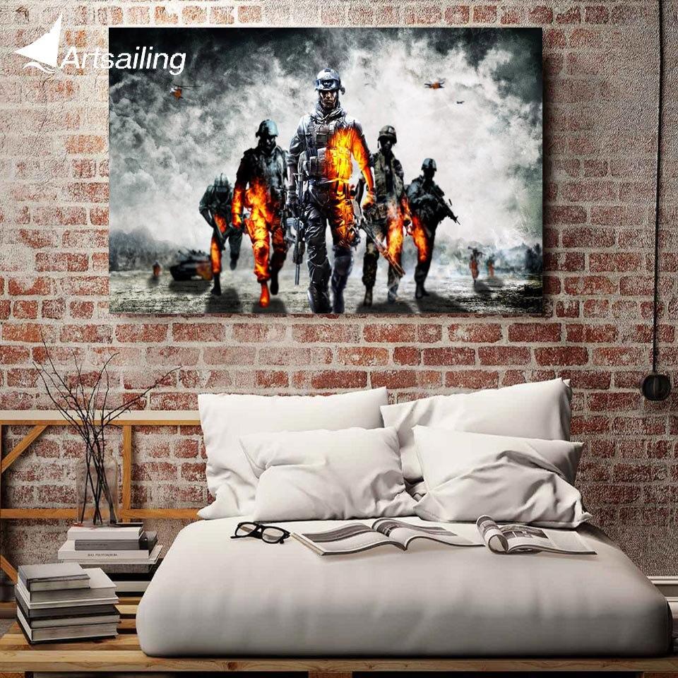 1 pieza lienzo arte póster del juego campo de batalla lienzo pintura carteles e impresiones pared picutres para sala de estar XA1641C