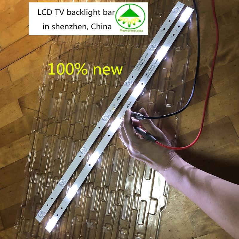 4 pçs/lote 100% nova TV LCD backlight bar para haier 32 polegada CRH-F32W3030020767C-Rev1.1MR 7 Universal tira backlight 590 milímetros LEDs
