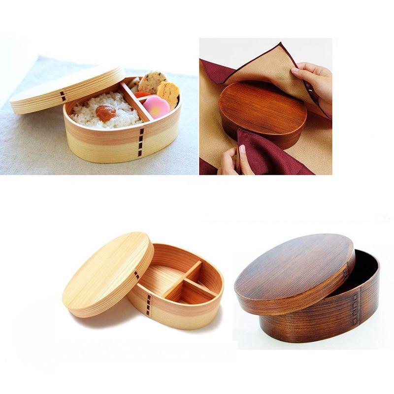 Ланч-бокс натуральное дерево бенто Ланчбокс контейнер для еды японский дорожный школьный Кемпинг Ланч-бокс удобный