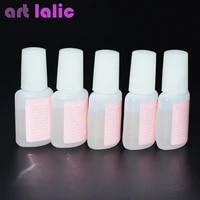 10g nail art glue tips glitter uv acrylic rhinestones decoration with brush nail polish glue acrylic glue