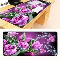 mairuige lock edgeo elegant butterfly gaming soft mat pads for pc optical mouse laser mice large mouse pads for 9004002mm