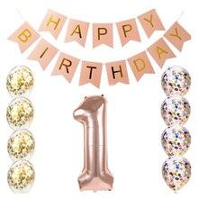 Birthday set 16 21 30 40 50 60 years old happy birthday confetti 32 inch digital foil balloon birthday party decoration supplies