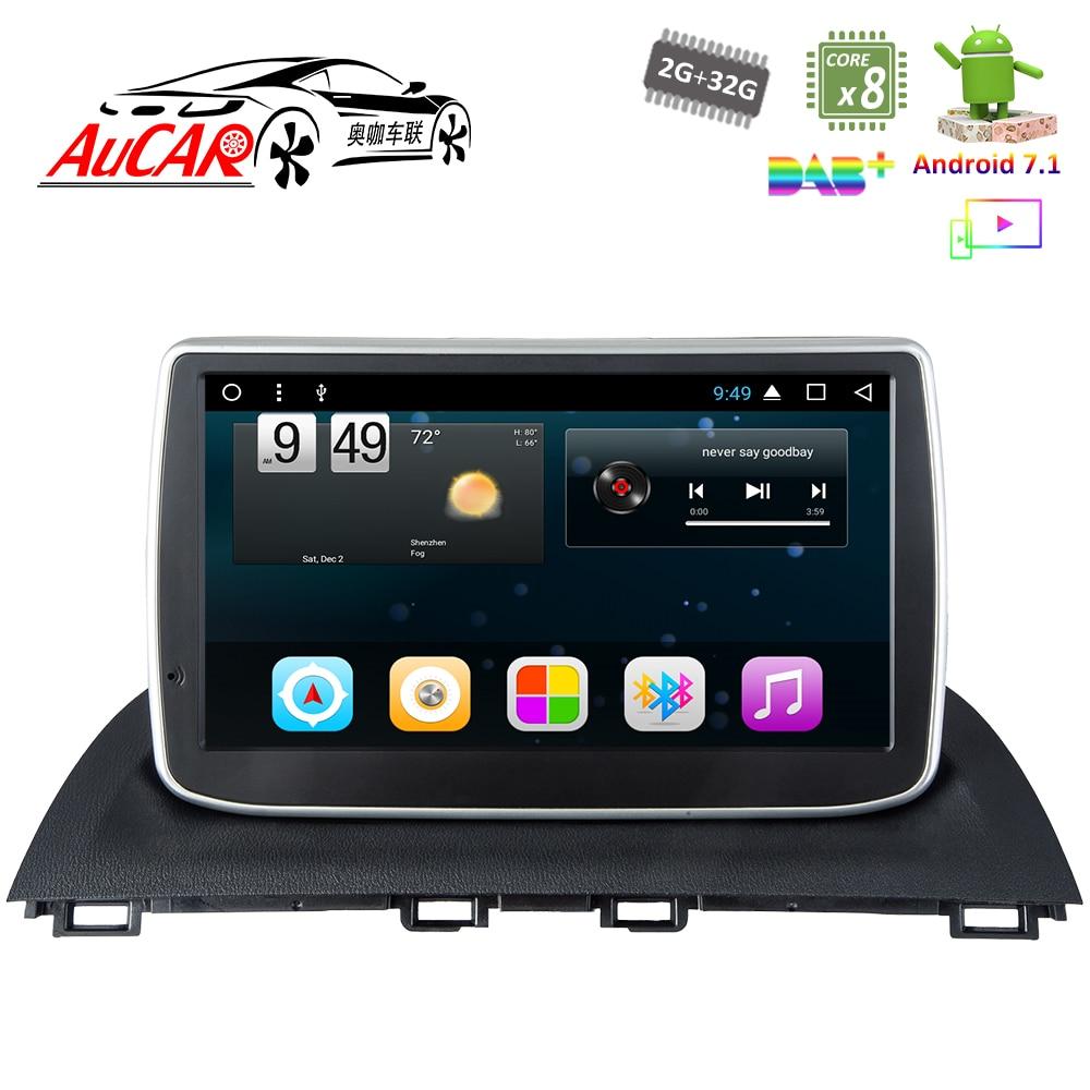 "Android 7.1 9"" Car DVD Player for Mazda 3 Axela car radio 2014 - 2018 HD 1024*600 Bluetooth GPS Radio WIFI 4G car Stereo DVD"
