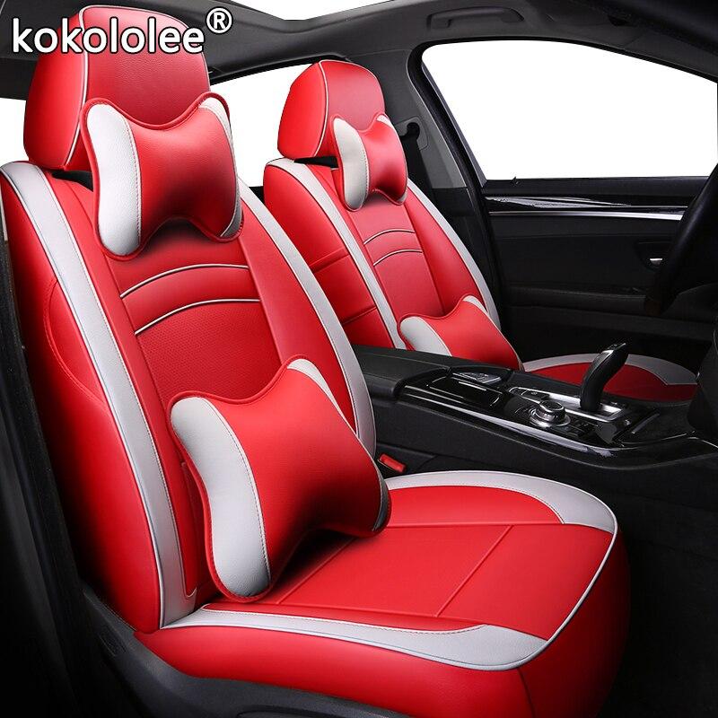 Kokololee, Funda de cuero para asiento de coche para Volkswagen Caravelle Multivan sharan vw UP, versión de Golf, fundas de asiento personalizadas para automóviles