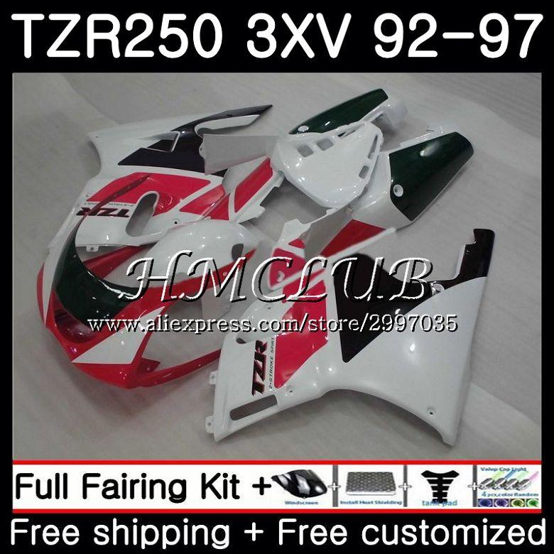 TZR-250 لياماها TZR 250 1992 1993 1994 1995 1996 1997 6HC.6 TZR250RR RS YPVS 3XV TZR250 الأحمر الأبيض 92 93 94 95 96 97 هدية