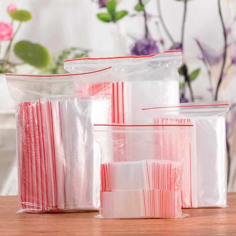 100 шт! 8x12 см прозрачный reclosable мешок пластиковые конфетки подарочные упаковочные мешки для хранения.