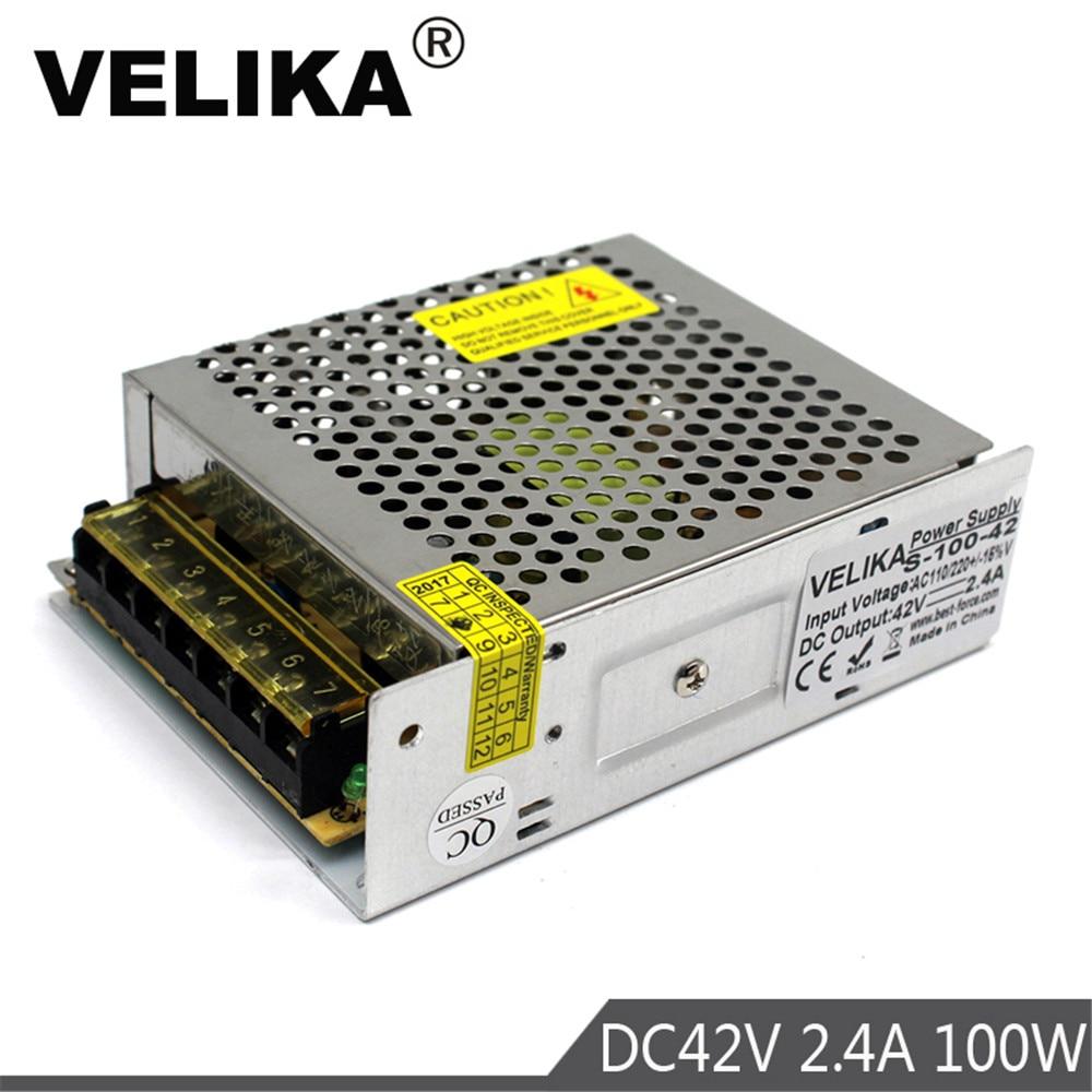 Transformador de fuente de alimentación Universal DC42V 2.4A 100W 100-240V CA a DC 42V SMPS para CNC CCTV Motor paso a paso impresión 3D