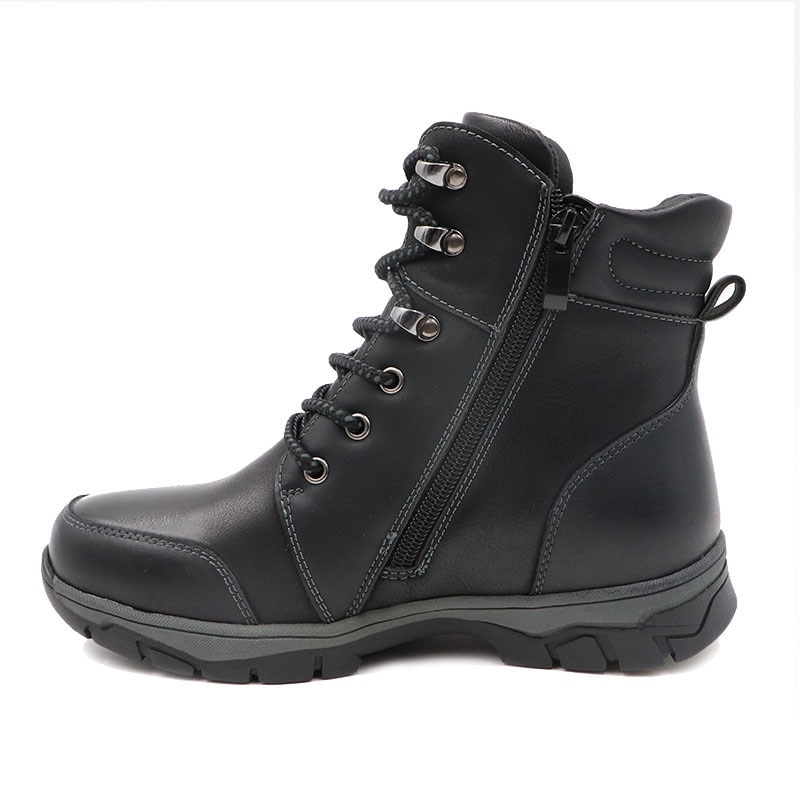 Cute eagle Winter Boys Boots European American Style Natural Leather kids Boots Cold-proof Warmth Tie Outdoor Lace-up Boys Boot enlarge