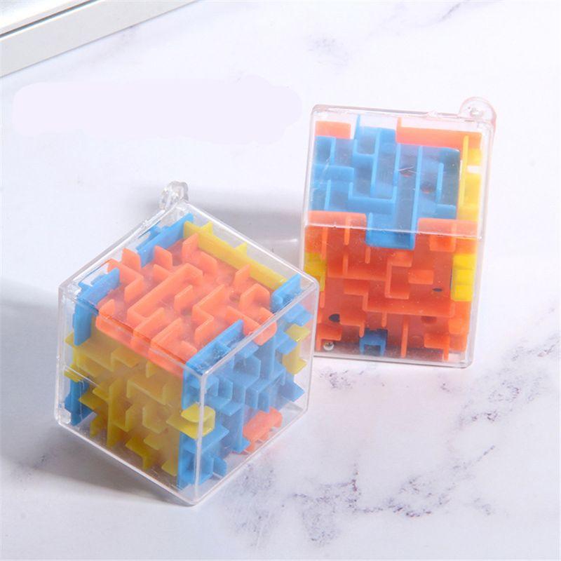 3 cores quebra-cabeça labirinto cubo brinquedo cérebro jogo desafio brinquedos brinquedos brinquedos equilíbrio educacional chaveiro puzzle brinquedo labirinto