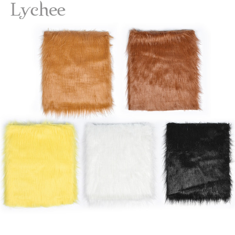 Lychee Life 50cmx175cm Plush Toy Fabric High Quality Long Hair Faux Fur Fabric DIY Handmade Materials For Garments