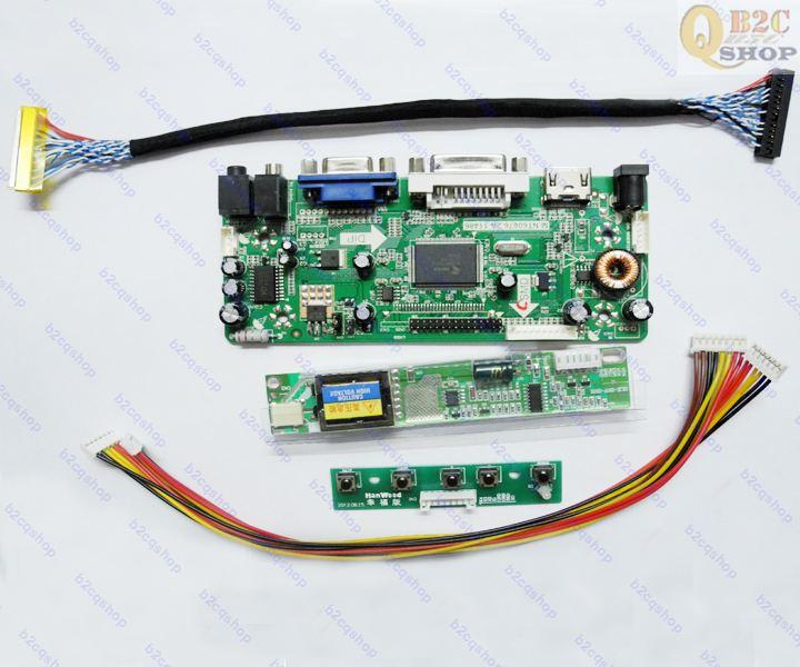 NT68676(HDMI + DVI + VGA), tablero controlador LCD, Kit DIY para QD15XL06 1024X768