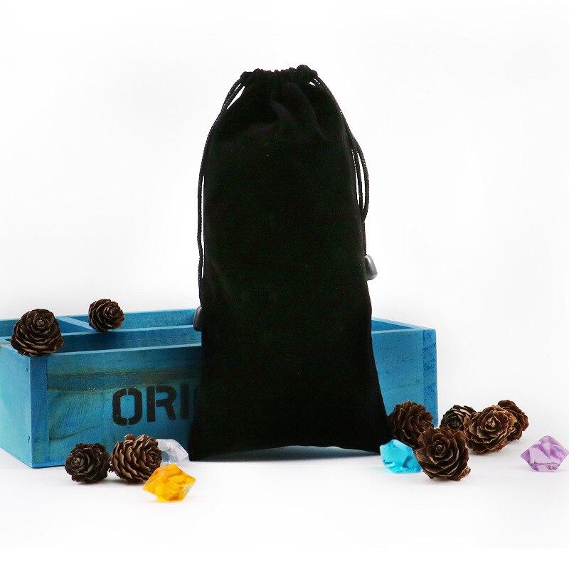 Bakeey preto portátil macio drawstring power bank saco de armazenamento caso bolsa do telefone para samsung xiaomi coleção de bateria externa saco