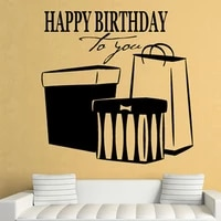 Autocollant mural joyeux anniversaire a vous  decoration de maison ajouree en vinyle amovible a la mode  decoration de salon