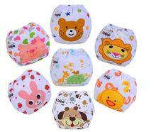 Couches lavables et réutilisables 10 pièces/lot   22 styles de couches pour bébé, couches changeantes en coton, pantalon dentraînement, tissu heureux 0-24M ctrx0016