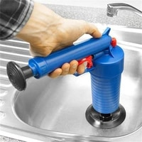 hot sale home high pressure air drain blaster pump plunger sink pipe clog remover toilets bathroom kitchen cleaner kit