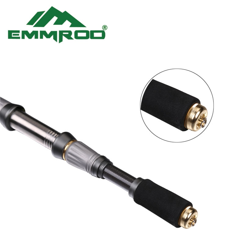 EMMROD Stainless Steel Sea Spinning Fishing Rod 72cm Telescopic Fishing Rod Rock Fishing Rod GSZ Free Shipping enlarge