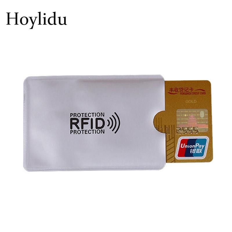 5Pcs Rfid Protection Metal Credit Card Holder Men Women Business ID Card Case Anti Rfid Blocking Reader Lock NFC Bus Cards Cover