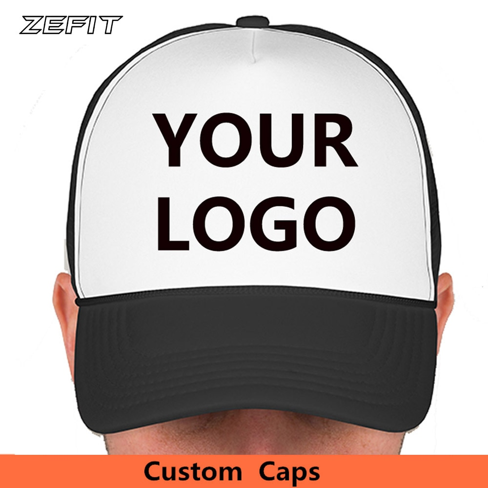 LOGO Customized Name Journey Trip Small Quantity Mesh Back Snap Golf Sun Visor Team Hats Fashion Wearing Custom Baseball Caps