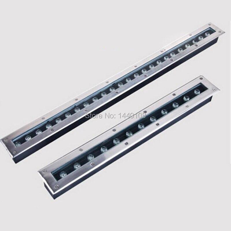 3 pièces/lot led lumière souterraine 12w LED lumière de jardin extérieur IP67 AC100V-240V Rectangle enterré lampe guirlande lumineuse exterieur