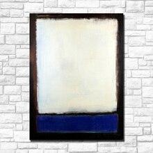 Photos murales abstraites de salon   Bleu et gris, peinture à lhuile, sans cadre, décoration artistique de la maison, pour la salle de séjour