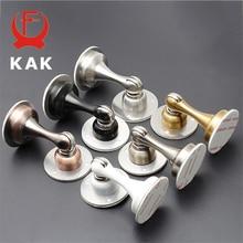KAK porte magnétique autocollant caché   Butoir en acier inoxydable, supports de porte cachés, attraper au sol, matériel de porte sans clous