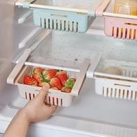 refrigerator organizer adjustable stretchable drawer basket refrigerator pull out drawers fresh spacer layer storage rack