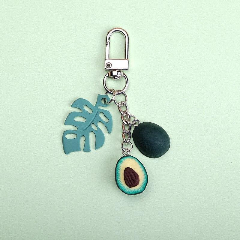 Новинка 2020, имитация фруктов, авокадо, брелок в форме сердца, модные ювелирные изделия, подарок для женщин