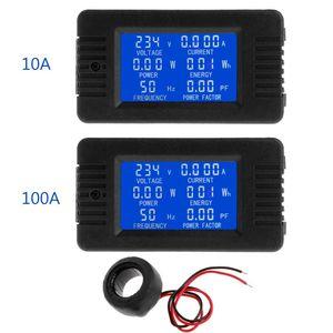 Digital Voltage Energy Meter Frequency Power Current Power factor Panel Watt Combo Indicator 80~260V 110V 220V Dropshipping