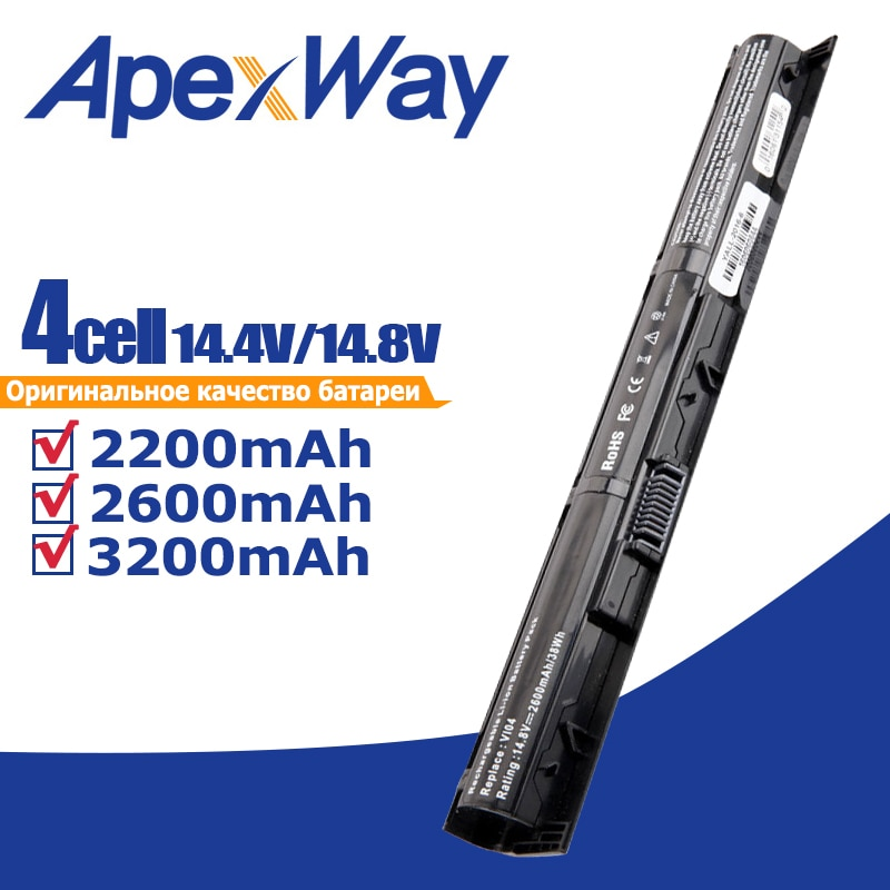 Bateria do portátil de apexway 4 células para a série 440/450-001 756745-001 756744-756478 421-001 de hp probook 756743 g2