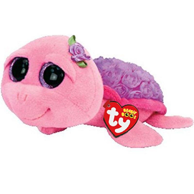 "Ty Stuffed & Plush Animals Purple Tortoise Toy Doll 6"" 15cm"