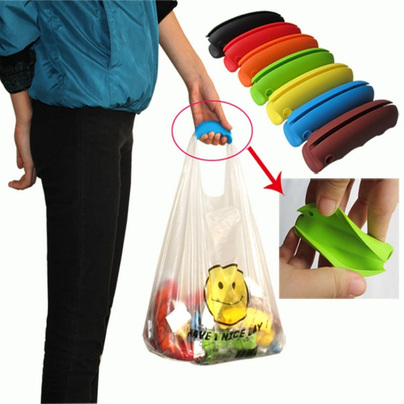 ¡Producto en oferta 2018! bolsa colorida con Clips, bolsa suave, cómoda, bolsa de transporte, utensilios de cocina con mango LY3 P