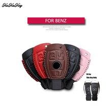 Genuine Leather Remote Keyless Chiave Dell'automobile Della Copertura di Caso Per Mercedes Benz W203 W210 W211 AMG CES CLS CLK CLA Chiave Borsette Sacchetto Per Benz