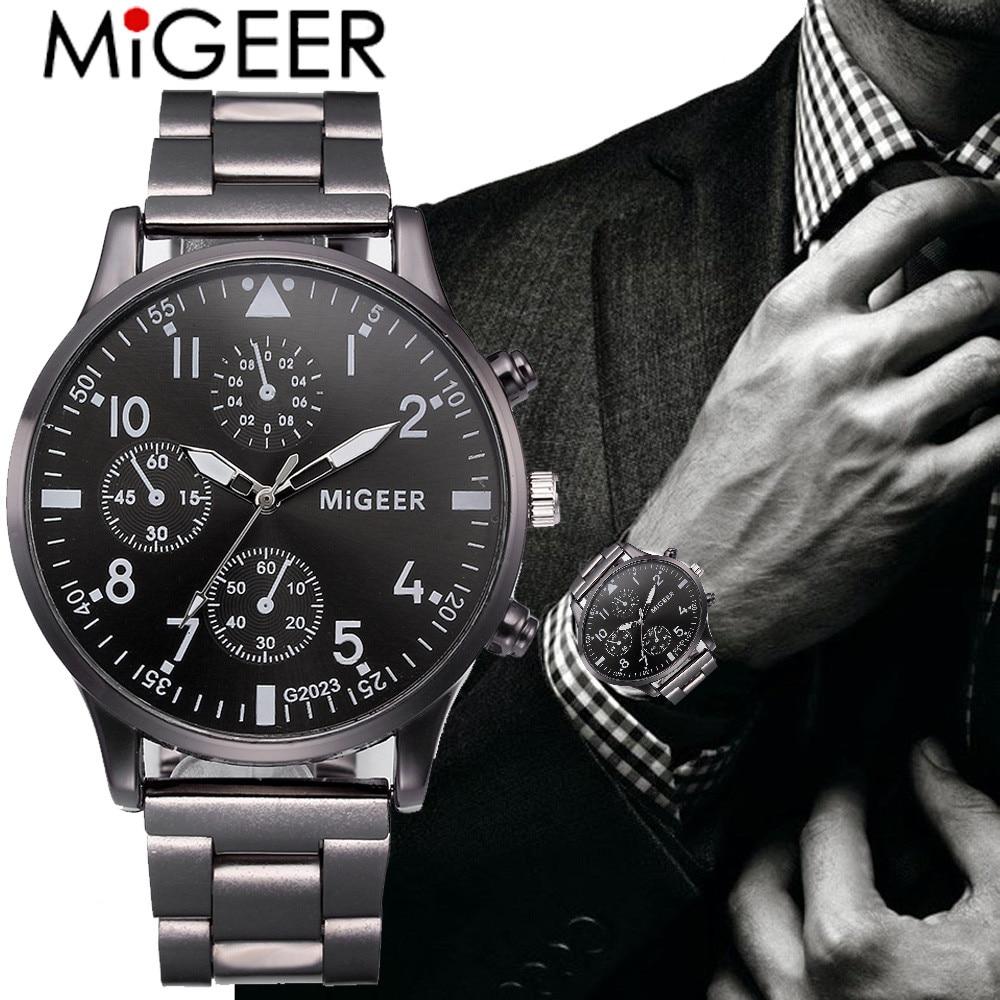 Reloj de pulsera para hombre, novedad de 2018, superventas, de marca, de lujo, estilo único, relojes de cuarzo para hombre, reloj de diseño a la moda para hombre, triangulación de envíos