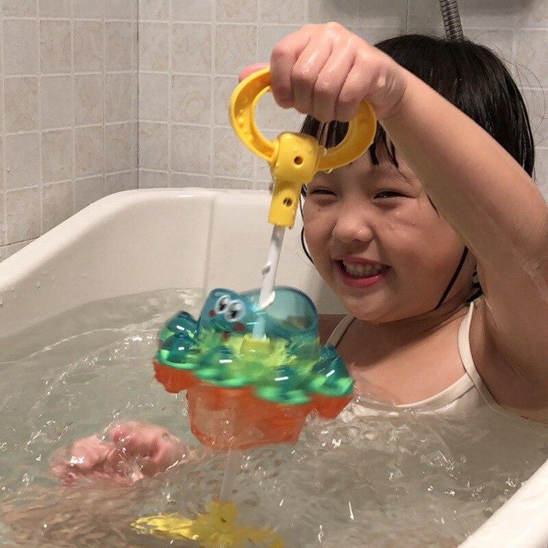 Juguete de baño de agua para bebés pequeños, Animal bonito en forma de pulpo, bomba de Agua pulverizada giratoria