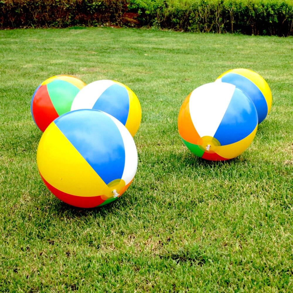 Pelota de playa inflable de 23/30/36cm, globos de agua de PVC, bolas de Color arcoíris, juguetes de playa para verano al aire libre, recién llegados