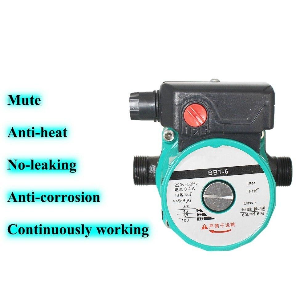 100 Вт бытовой нагревательный циркуляционный насос для горячей воды, чтобы согреть ультра-тихий бустерный насос, центральный нагревательный котел, кондиционер воздуха