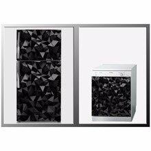 DIY Black Cubes Waterproof SelfAdhesive Refrigerator Dishwasher Kids Door Sticker Wallpaper kitchen accessories wall sticker