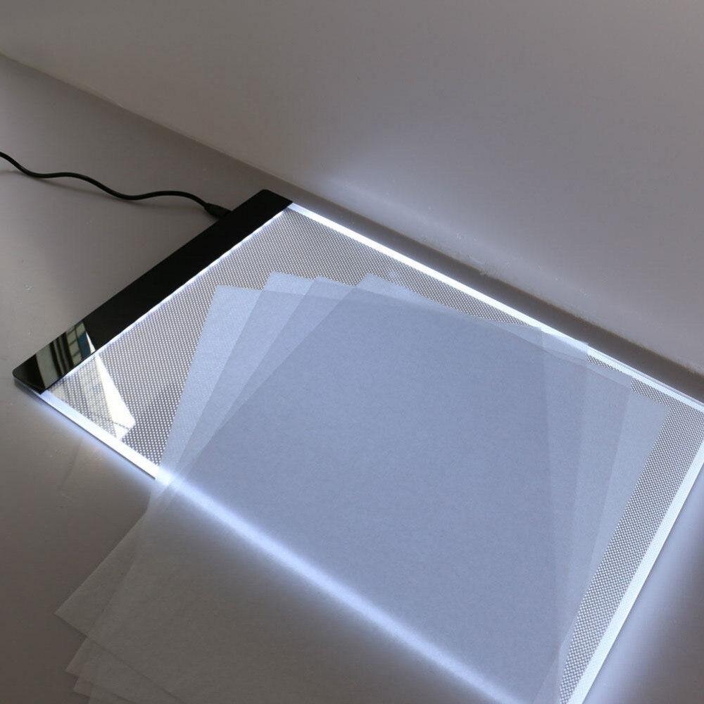 Tabuleta clara ultra fina de 3.5mm, almofada clara conduzida a4, almofada clara conduzida do ponto da cruz da pintura do diamante