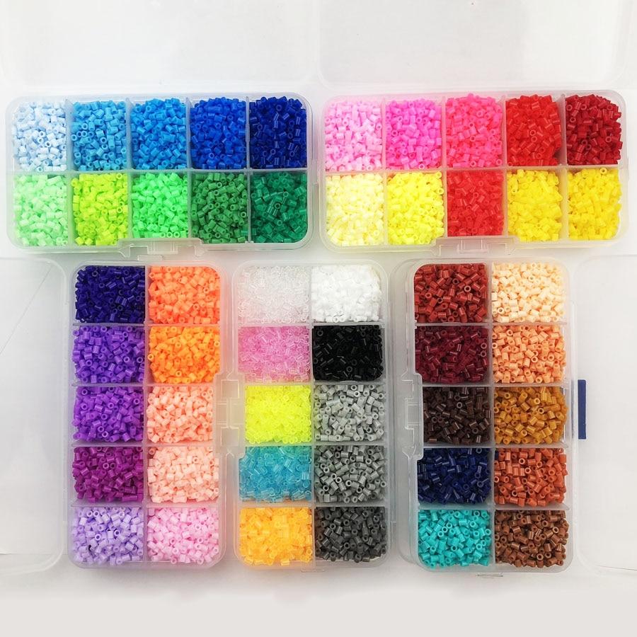Caja de cuentas Hama de 2,6mm para niños, PUPUKOU perler, fusible de...