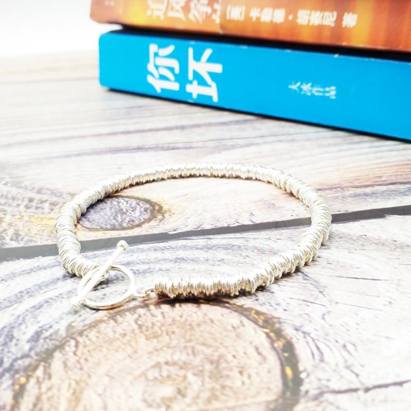 Venta al por mayor nuevo diseño de moda de la joyería de plata de ley 925 pulsera de los hombres hechos a mano pulseras de parejas de enamorados 20 unids/lote + envío gratuito