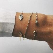 3 pièces/ensemble nouveau Vintage Bracelet ensemble femmes plage océan métal ouverture Bracelet femmes bohème réglable Bracelet Bracelet ensemble bijoux