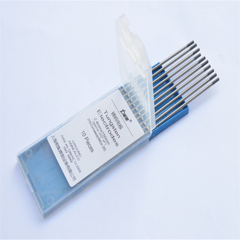 Специальный вольфрамовый электрод с серым наконечником 0,5*175 мм, 10 шт., WC20, вольфрам для сварочной горелки tig, аргоновая дуговая сварочная маш...
