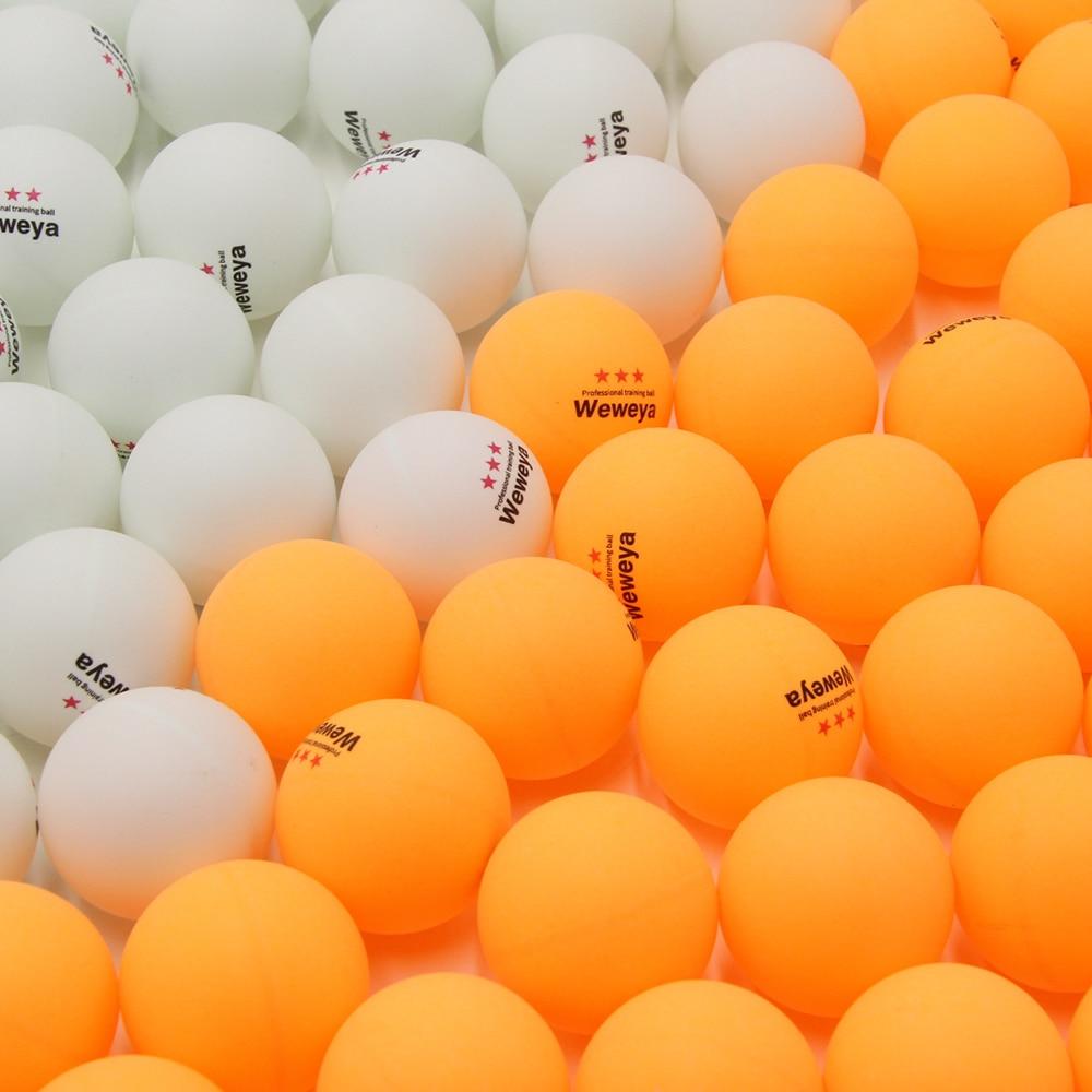 Weweya 10pcs/Bag Professional 3 Star Table Tennis Ball White Orange Ping Pong Ball 40mm 2.8g Competition Training Ball Low Pirce
