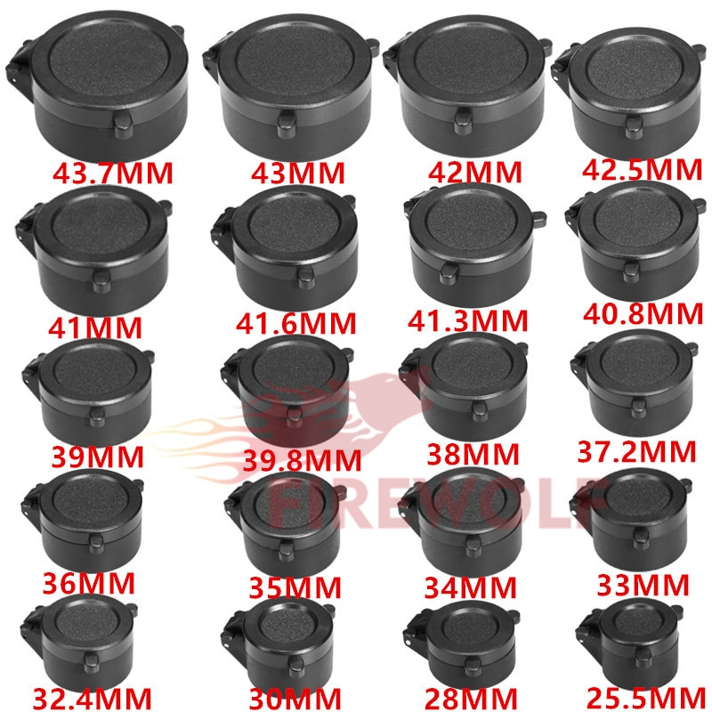 Защитная крышка для объектива FIRE WOLF 25,5-43,7 мм С Откидывающейся Крышкой для крепления объектива для охоты