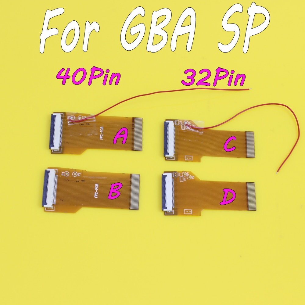 20pcs DIY Modified Highlight Version SP LCD Ribbon Cable backlit Ribbon Cable adapter for GBA 40pins 32PIN AGS 101 Mod Kit