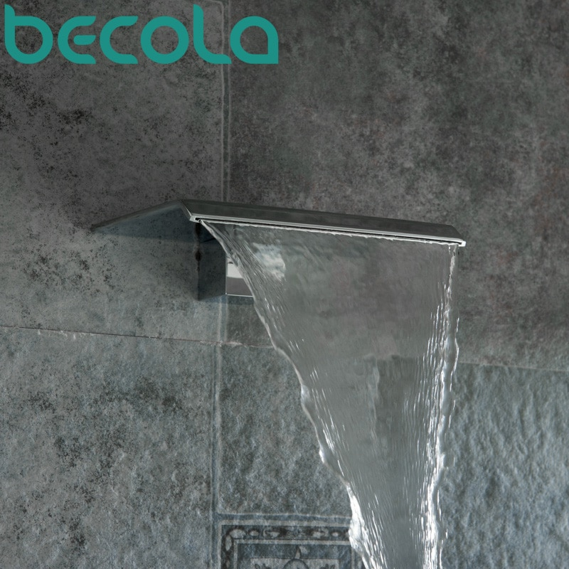 Free Shipping BECOLA Basin Faucet Spouts Shower Bathroom Accessories Wall type Waterfall faucet LT-301B