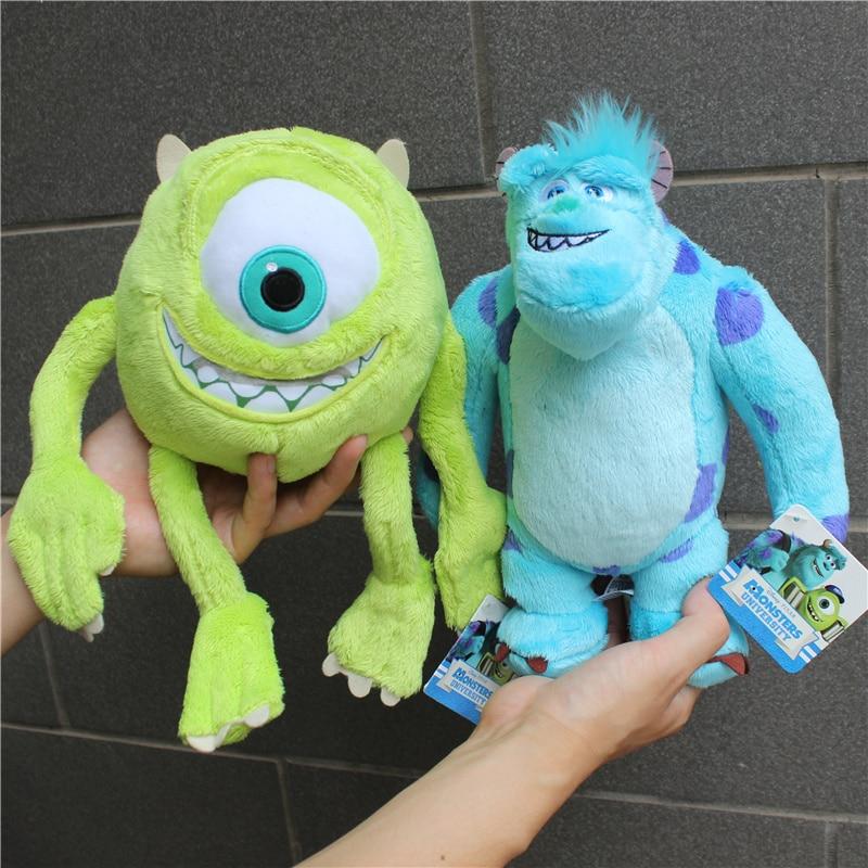 Плюшевые игрушки Mike Monster Mike Wazowski and Sulley, 25 см, 2 шт./лот